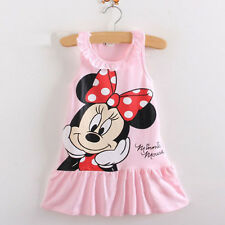 Red/Pink Kids Baby Girls Minnie Mouse Dress Cartoon Tops Clothes Party Dresses