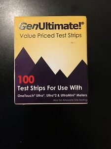 GenUltimate 100 Value Priced Test Strips for OneTouch Ultra Ultra2 UltraMini