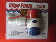 RULE 500 GPH BILGE PUMP . BOAT / POOL / FISH TANK / DRAIN / WATER TANK