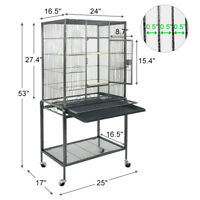 "Bird Parrot Finch Cage Macaw Cockatoo Pet Supplies 53"" Bird Cage Large Play Top"