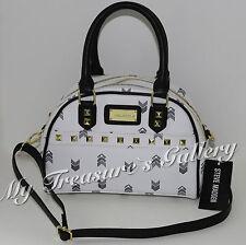 New Steve Madden Mini Satchel Purse Handbag Shoulder Bag White Multi NWT