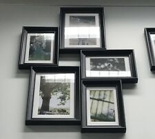SUPER LIGHT BLACK COLLAGE ANTIQUE TIMBER PICTURE FRAME 5 PHOTOS 4x6 & 5x7