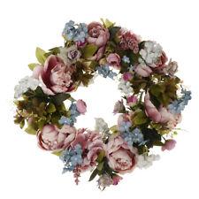 MEW Artificial Silk Peony Flower Wreath Door Wreath Wedding Home Decoration DIY