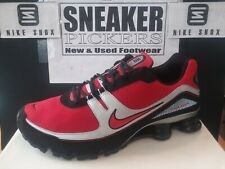 Nike Shox Turbo Ignition - 316872 661 - Varsity Red / Black - Silver - Size 11.5