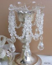 Crystal Clear Teardrop Acrylic Bobeche Candle Ring
