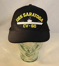 Uss Saratoga Cv-60 Snapback Cap Embroidered Hat