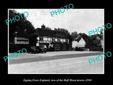 OLD LARGE HISTORIC PHOTO EPPING ESSEX ENGLAND THE HALF MOON TAVERN c1930