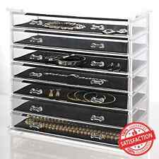 Jewelry Organizer Chest Cosmetic Storage Display Case Necklace Holder Cabinet