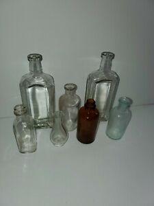 Vintage Glass Bottles.   Lot of 7