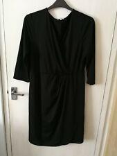 Women Size 18 Maternity Black Dress Long Sleeved Papaya Plus Size EU 46