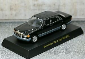 Kyosho 1/64 Mercedes-Benz Collection W126 SL-Class 560 SEL 1985 Black