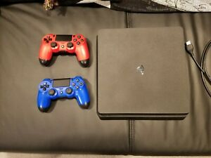 Playstation 4 Slim PS4 Used 1 TB with 2 Controllers
