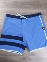 HURLEY Phantom Men's Size 38 Blue Board Shorts Surf Swim Trunks Casual