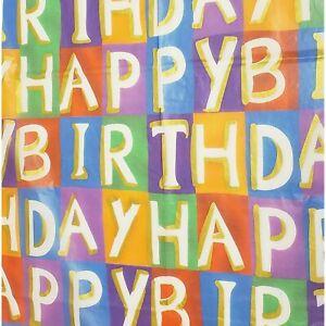 "**Lot of 6** SPARKLE TISSUE 5 Sheet Happy Birthday Tissue Paper-20"" x 26"""
