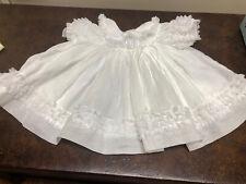 "New Listing18"" Doll Dress White Ruffled Vintage Clothing Madame Alexander Allison"