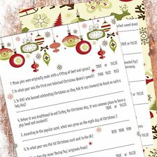 Christmas Entertainment Trivia Game VintageStyle Christmas Eve Party Ice Breaker
