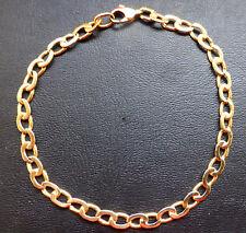 gourmette ancienne en or massif 18 carats 7,6grammes 19,5cm polie par bijoutier