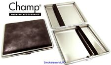 Cigarette Case -- Champ Vintage Leatherette Charcoal 20 King Size -- NEW chks27