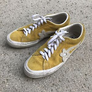 Golf Le Fleur Solar Power Converse 9.5 Yellow Golf Wang Sneakers Shoes Tyler
