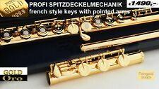 Querflöte Gold 24K Flute Flaut Flauti Gold 24 KGold, Flauta Oro AZUMI COPY