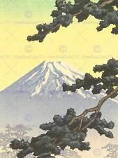 NATURE LANDSCAPE FUJI JAPAN VOLCANO Kawase Hasui POSTER ART PRINT BB1438B