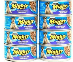 9 Purina Mighty Dog Protein Packed Hearty Pulled Style Chicken Dinner in Gravy