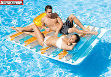 Intex Doble Colchón de aire XXL Isla Flotante Doble Lounge Flotante poolinsel