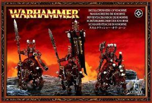 GW - Khorne Skullcrushers 3 Models in Sealed Box - Warhammer Fantasy Battles New