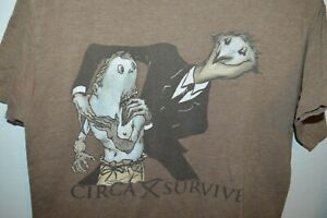 CIRCA SURVIVE band T-Shirt Slim mens medium anthony green saosin screamo