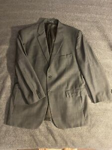 Mario Caldi Made in Italy Ing Loro Piana & Co Mens Suit Jacket Size 44R Charcoal