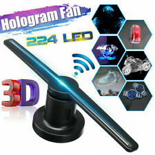3D WiFi Holographic Hologram LED Fan Projector Display Advertising Au Plug Lamp