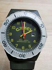 Camel Armbanduhr selten Sammlerstück swiss MadeDatum sekunde Funktion