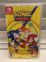 2017 SEGA Sonic Mania Nintendo Switch Factory Sealed
