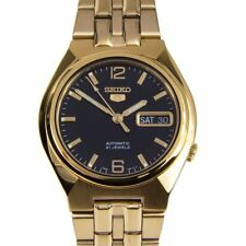 Seiko 5 Automatic Analog Gold Stainless Black Dial Gents Watch SNKL66 SNKL66K1