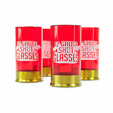 12 Gauge Shot Glasses Set of 4 Novelty Bullet Shell Drinking Party Games GIFT
