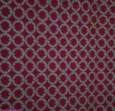 1 x FAT QUARTER, ROUND FLOWER, 46cm x 50cm, 100% Cotton, Fabric, Patchwork,