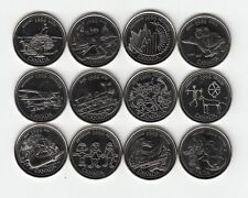 Canada 1999 Millennium Commemoration 25 Cents Nickel 12 Coins Set UNC