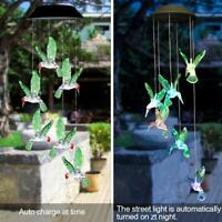 Solar LED Hummingbird Wind Chime Light Outdoor Color Changing Hanging Lamp BEST