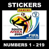 Panini 2010 World Cup stickers (South Africa) Numbers 1 - 219