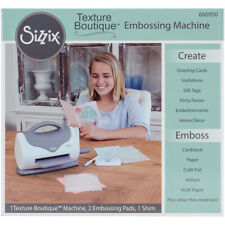 Sizzix Texture Boutique Embossing Machine-Gray & White, 660950