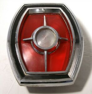ORIGINAL 1965 FORD GALAXIE LTD AUTO CAR TAIL BACK UP LIGHT LENS BUCKET ASSEMBLY