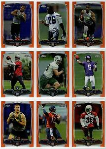 2014 Topps Chrome Football Orange Refractor Parallel You Pick Finish Your Set