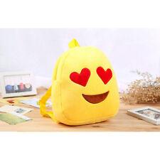 Innovative Living Soft, Plush Emoji Heart Eyes, Shoulder Strap Backpack Yellow