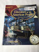 A BEKA Literature of American People  Vol 4 11th Grade Homeschool