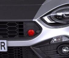 Fiat 124 Abarth Spider oberer Kühlergrill rot Schlepp Schutzbrille NEU & ORIGINAL