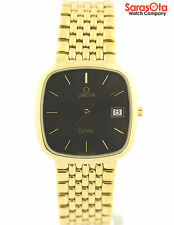 Omega DeVille Gold Tone Stainless Steel Swiss Quartz Luxury Dress Men's Watch