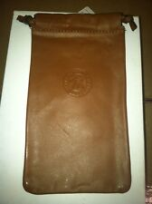 Cell phone, Iphone, Eyeglasses, Sunglasses, Leather Dust Bag Case Pouch brown