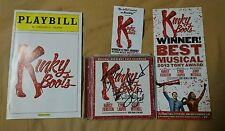 4x Signed Cyndi Lauper Billy Porter Stark Sands Annaleigh Ashford Kinky Boots CD