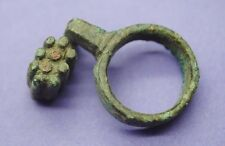 Ancient Roman bronze key ring 1st-3rd century AD