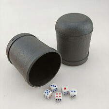 Professional Dicebox Bar Party Gambling Game Dice Cup Round Bottom Black Plastic